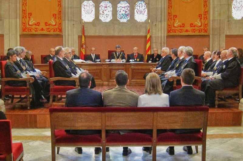 Ni el presidente de la Generalitat ni la alcaldesa de Barcelona asistieron a la toma de posesión del nuevo presidente del TSJC