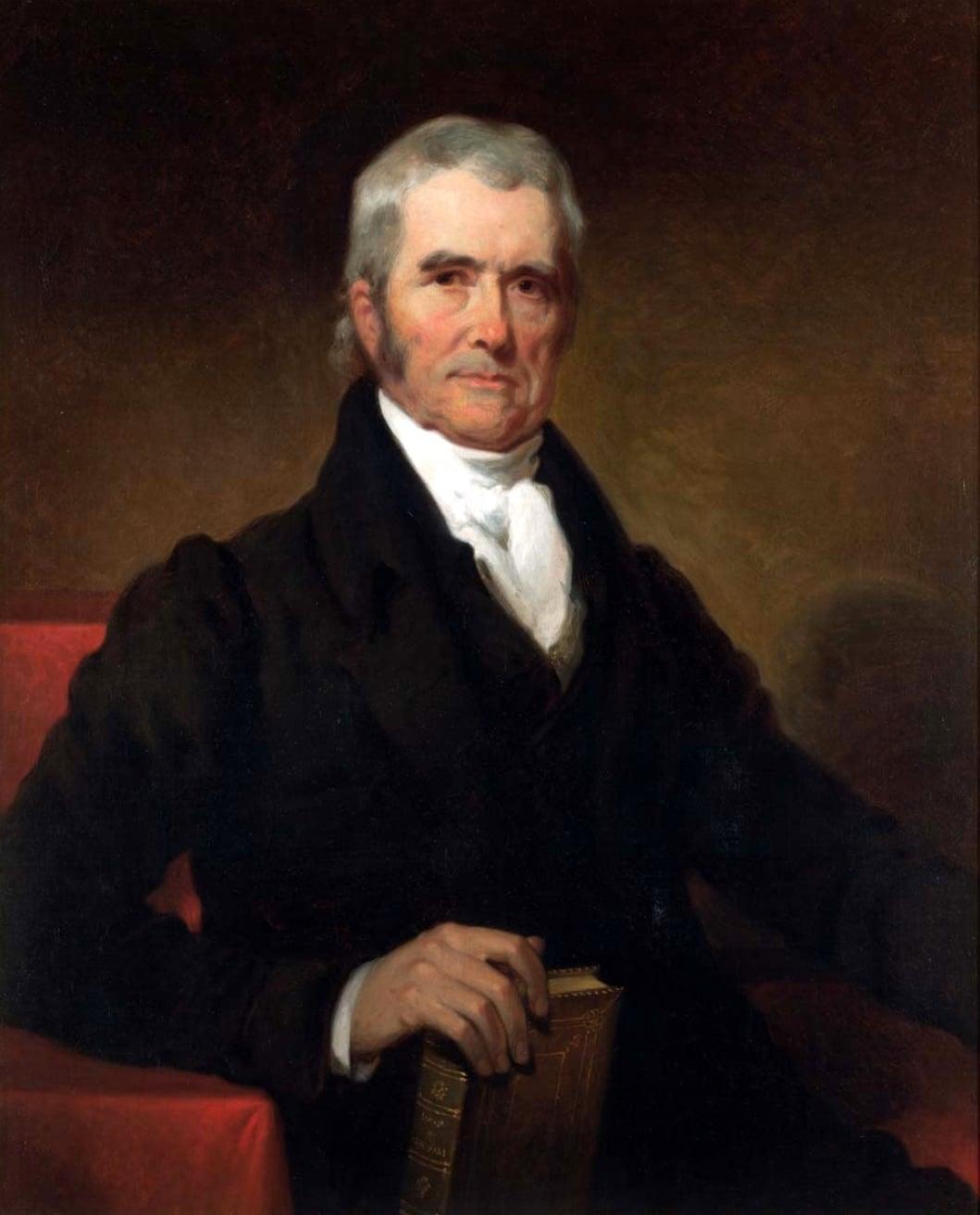 John Marshall fue el arquitecto constitucional del Tribunal Supremo estadounidense; la pintura fue realizada por Henry Inman en 1832.