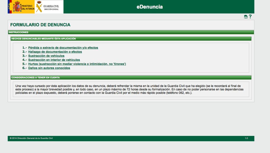 La Guardia Civil activa un sistema de denuncias por internet para los delitos sin violencia