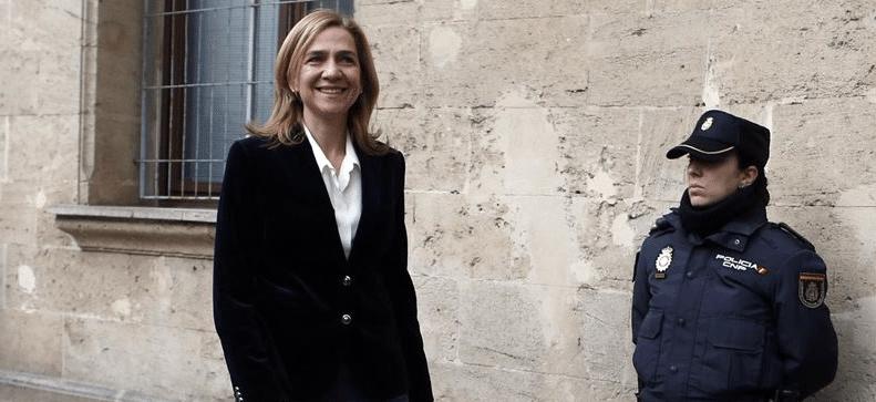 La Justicia tendrá que devolver a la Infanta Cristina al menos 322.325 euros, tras la sentencia de Nóos