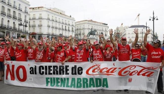 El Supremo confirma la readmisión de los trabajadores de Coca-Cola Fuenlabrada