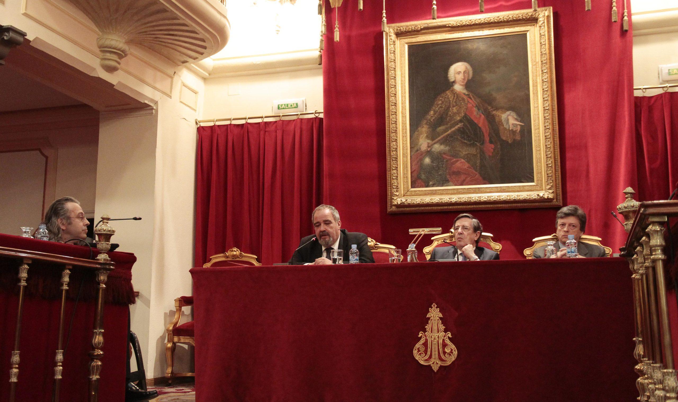 De izquierda a derecha, Juan Carlos Ramiro, José Muelas, Andrés de la Oliva y Javier de la Cueva. Confilegal.