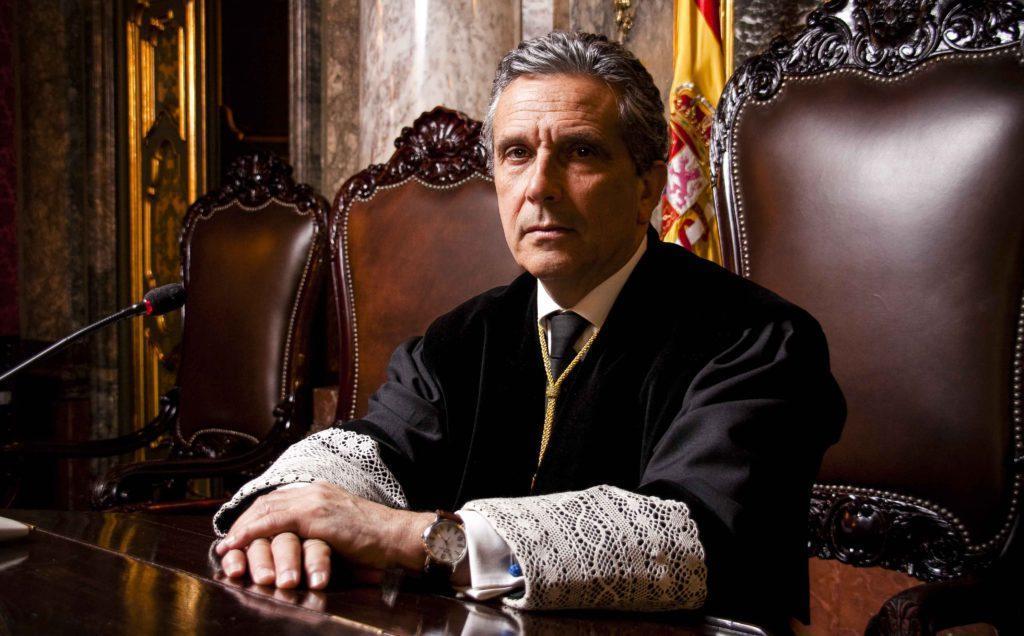 El abogado Adolfo Prego, socio director de Prego Abogados, magistrado en excedencia del Tribunal Supremo, en una foto de su tiempo de servicio en la Sala Segunda del Tribunal Supremo. Carlos Berbell.