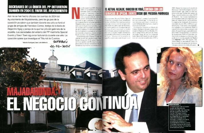 Segundo reportaje publicado por Rodríguez y Galiacho en Interviú.
