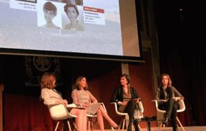 Mesa sobre protección de datos, Mar España (AEPD), Cecilia Alvarez (APEP) , Paula Ortiz IabSpain y Elena Alfaro (BBVA)