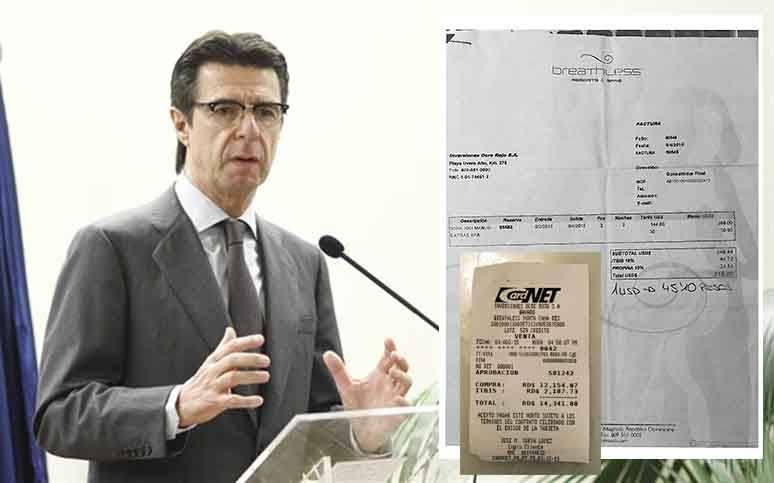 Confilegal publica la factura y el recibo del pago con VISA del hotel en el que estuvo Soria en República Dominicana