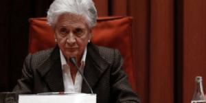 Marta Ferrusola, mujer del expresidente de la Generalitat de Cataluña, Jordi Pujol.