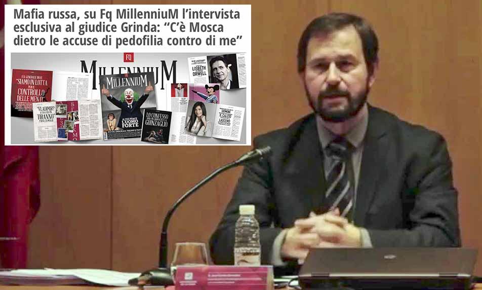 """El fiscal anticorrupción Grinda se busca un periódico italiano """"amigo"""" para defenderse de las acusaciones de pederastia"""