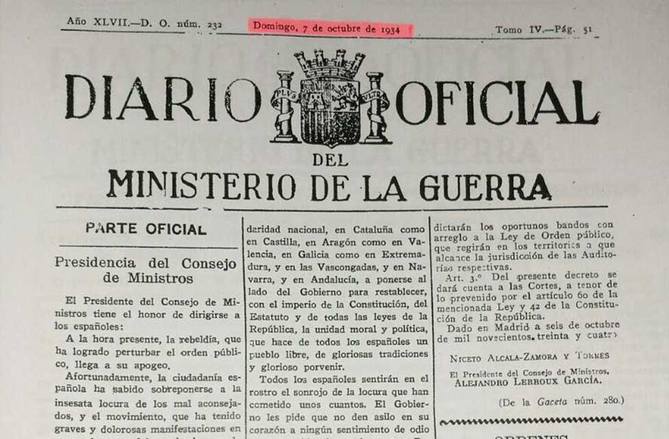 """Así acabó la República española con la declaración del """"Estat cátala"""" en 1934"""