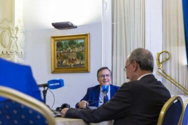 El alcalde de Málaga,Francisco de la Torre Prados y el director de Foro Confilegal Santander Justicia, Carlos Berbell