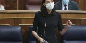La ministra de Justicia, Pilar Llop, durante su intervención en la sesión de control, en el Congreso de los Diputados. Foto: EP.